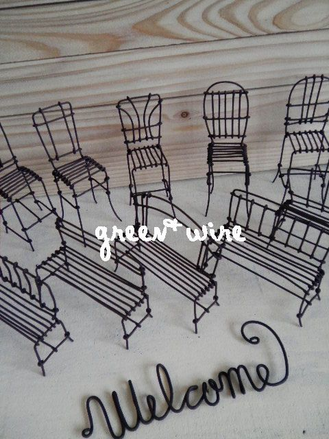 chairs   benches Wire art