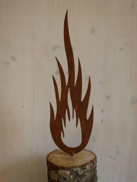 Details zu Rost Flamme Metall Weihnachten Garten Dekoration Edelrost ...