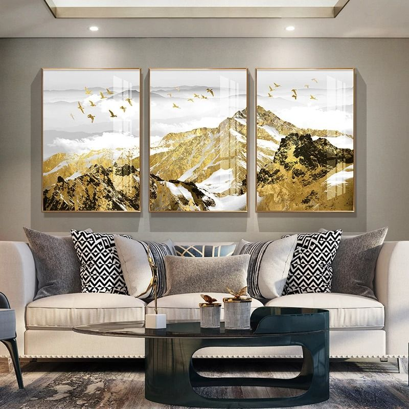 398 52 Xuanguan Landscape Painting Living Room Wall Decoration Painting Light Luxury New Chinese In 2021 Wall Decor Living Room Living Room Paint Rooms Home Decor