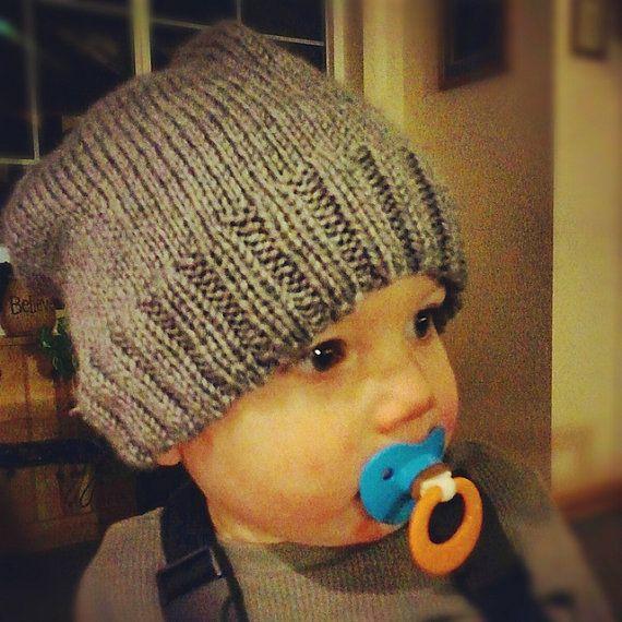 Knitting Pattern - Grunge Kid Slouchy Beanie - Newborn acdb3f2185c
