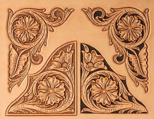 Craftaid  Floral Corners  1160   76617  leathercraft