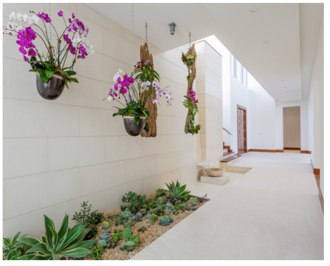 Vertical garden design with orchids space saving backyard landscaping - Explore Interior Garden House And Home And More