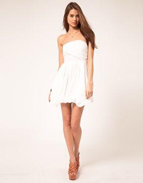 ASOS Bandeau Summer Dress With Bubble Hem