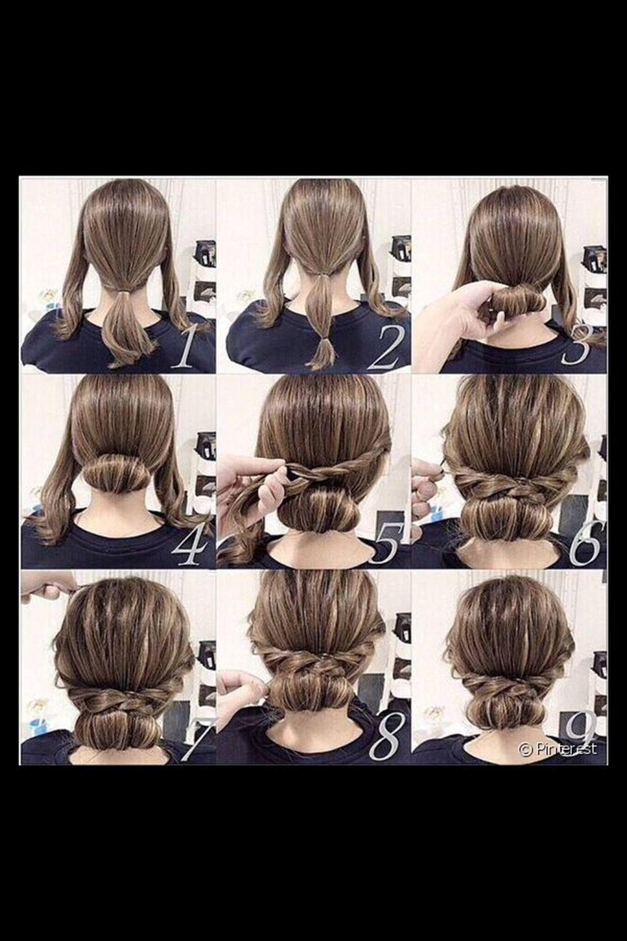 Peinado Recogido Facil Y Elegante Para Chicas De Todas Las Edades Hacer Recogidos Nun Peinados Con Pelo Recogido Peinados Elegantes Faciles Peinados Recogidos