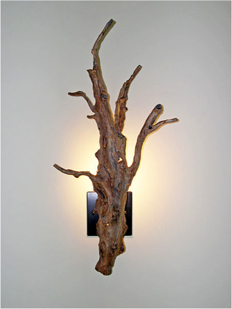 Small Driftwood Wall Sconce & Small Driftwood Wall Sconce | art | Pinterest | Driftwood Wall ...