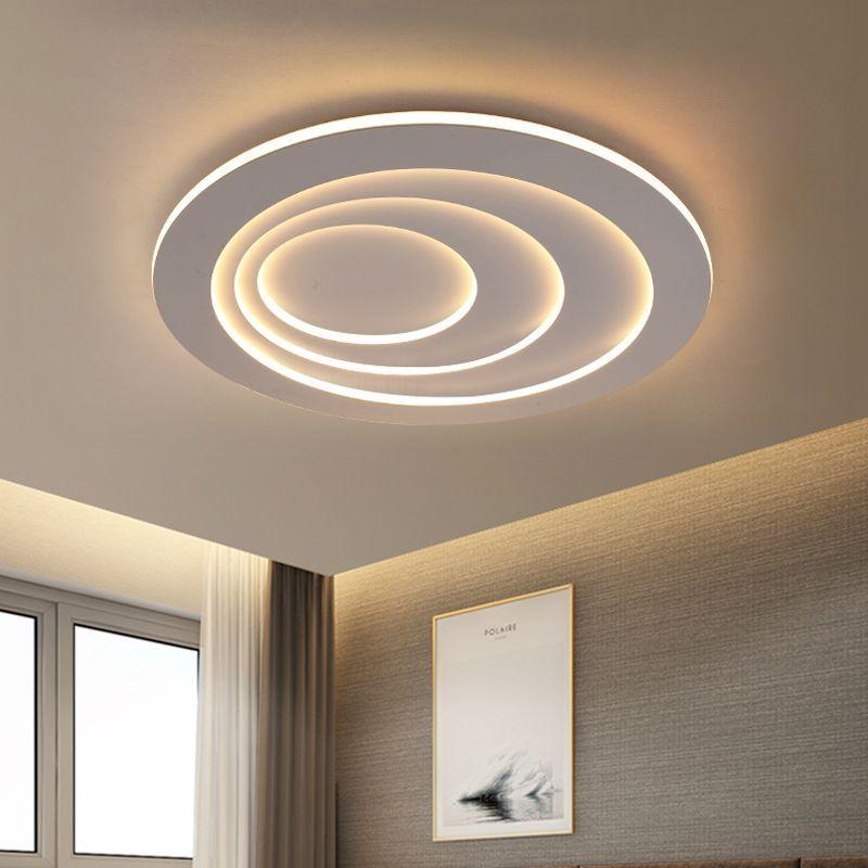 Plafonnier Simple Moderne Rond Led En Fer Pour Couloir Salon Chambre En 2020 Decoration Salon Plafond Decoration Plafond Idees De Plafond