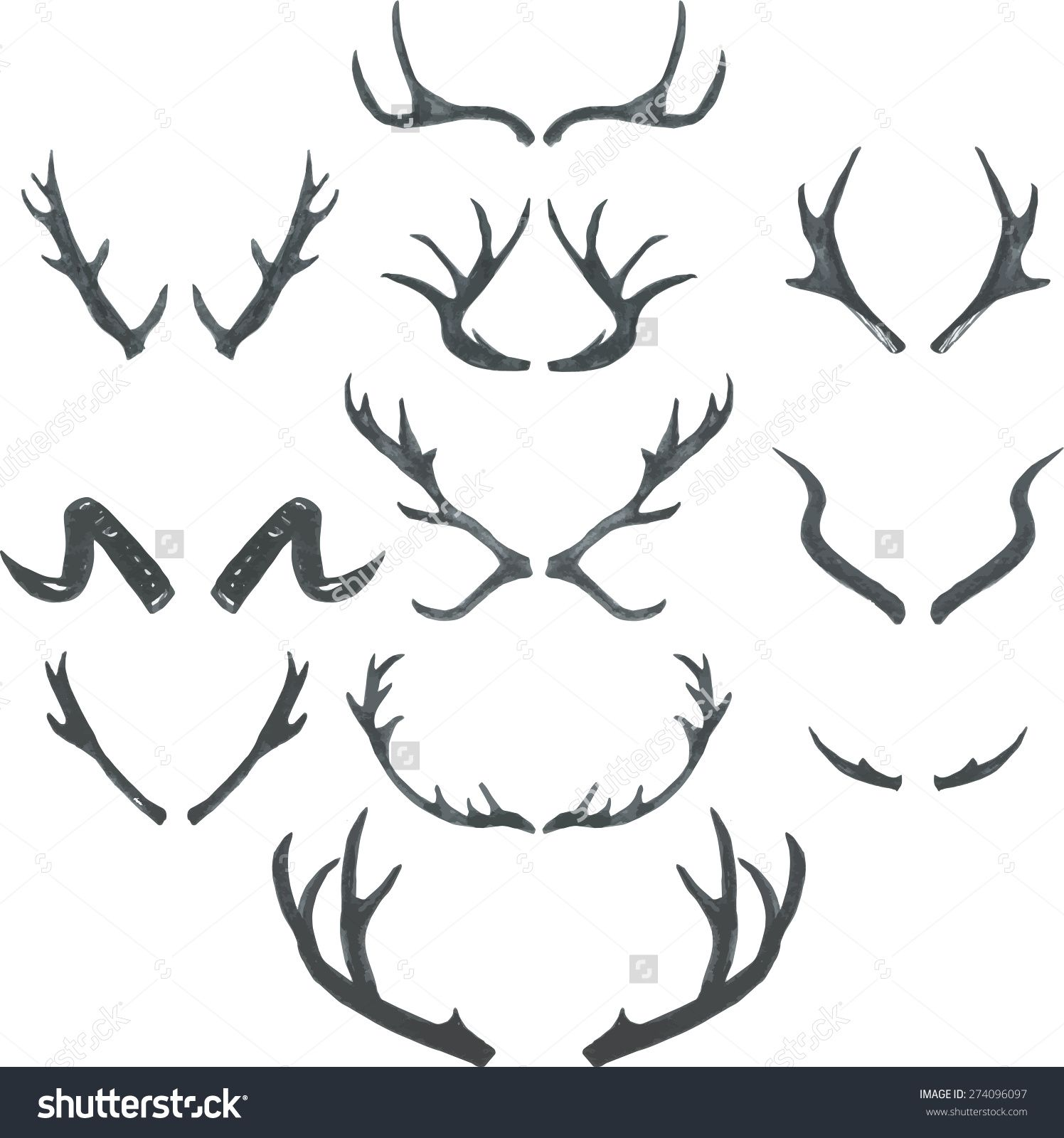 Image Result For Antlers Drawing