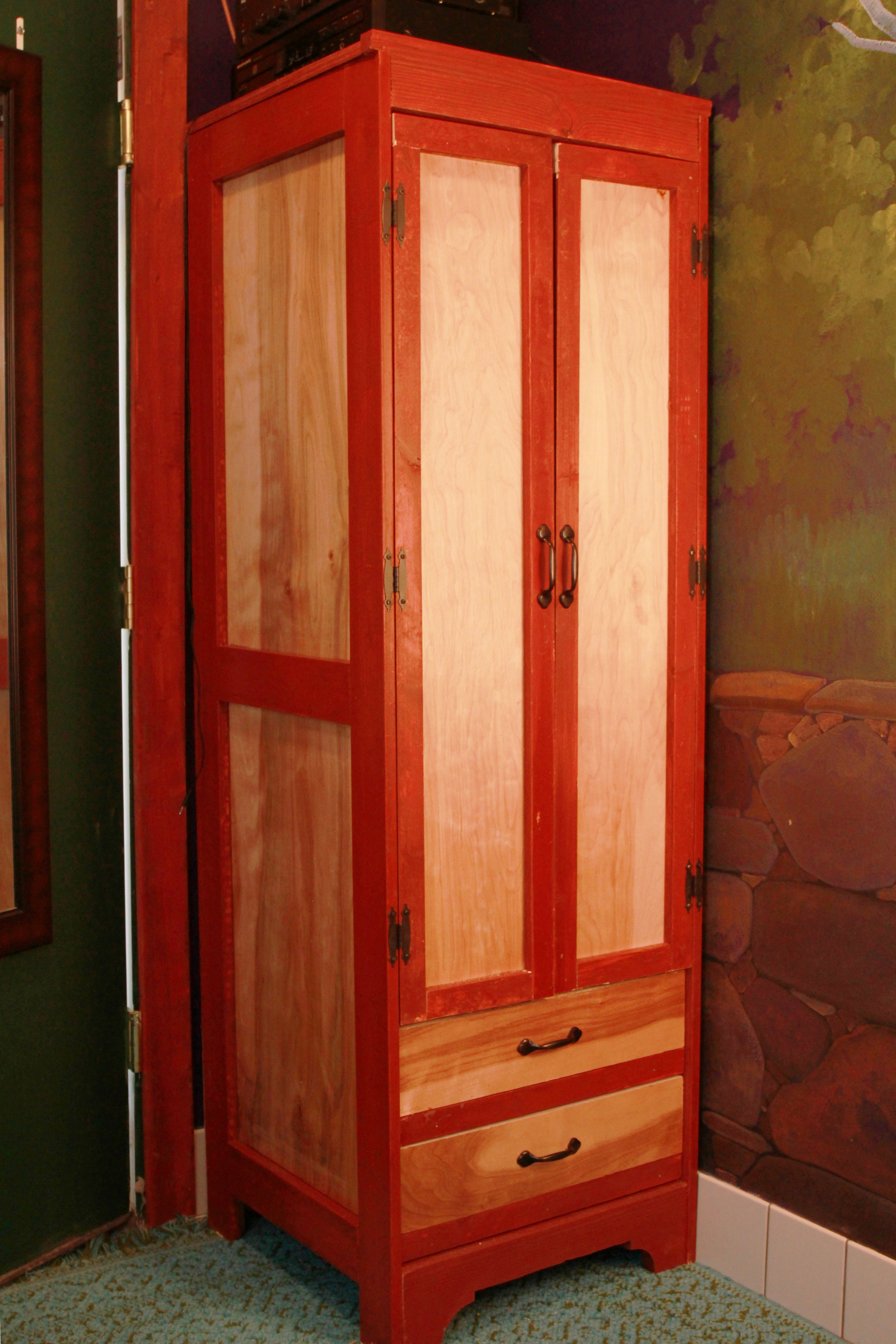 Tall narrow wardrobe for tiny house do it yourself home projects tall narrow wardrobe for tiny house diy projects solutioingenieria Image collections