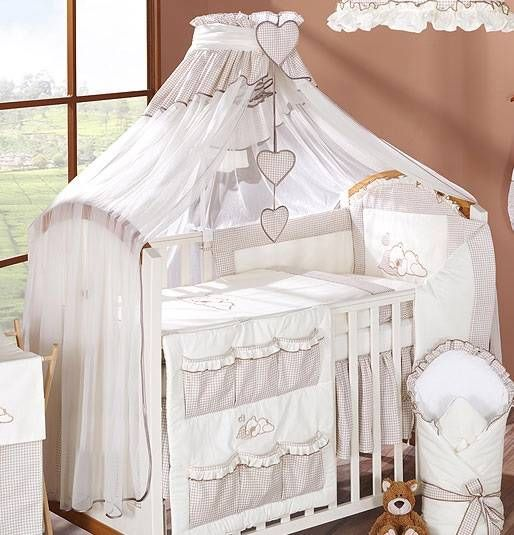 Coronet Canopy Drape / Mosquito Net BIG Fits Cot Bed - Check or Plain Pattern & Coronet Canopy Drape / Mosquito Net BIG Fits Cot Bed - Check or ...