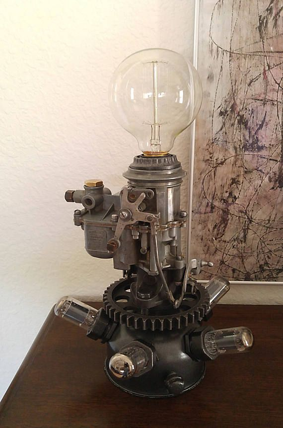 Steampunk Dieselpunk Carburateur Lampe Tube A Vide Steampunk Decor Steampunk Lamp Unique Lamps