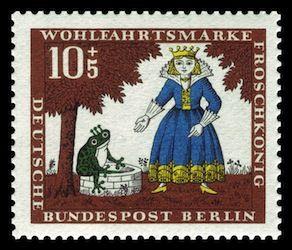 Briefmarke Bundespost Berlin Der Froschkönig Art Fairy Tales