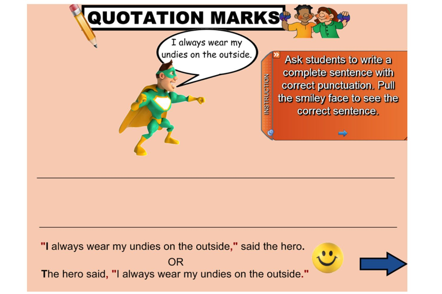 Easy Quotation Marks Worksheet