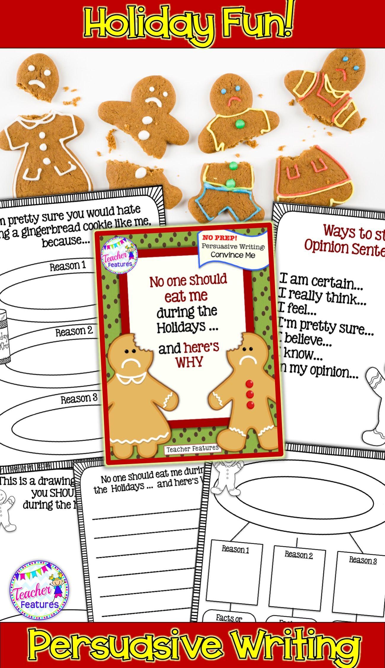 Gingerbread Man Activities For Writing Persuasive