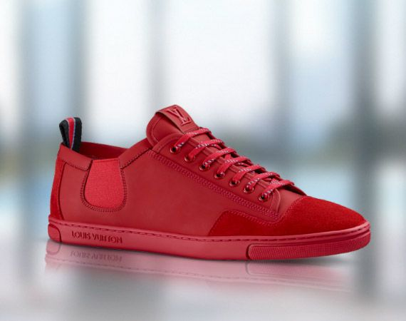 Louis Vuitton Slalom Sneaker Mono Red   Sneakers   Sneakers, Shoes ... 5c7c4d0e04b