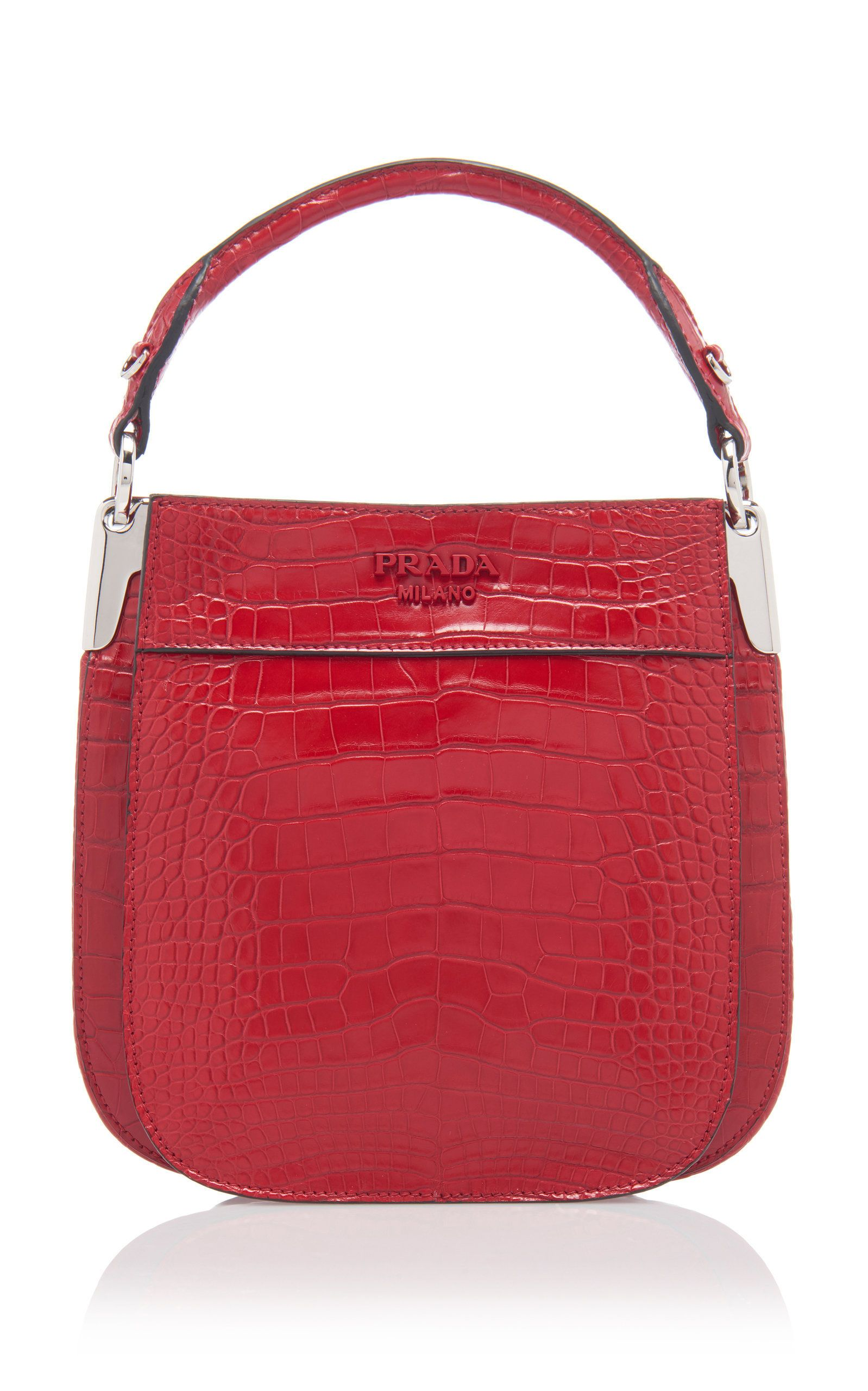 Krokodillen Tas Crocodile Bucket Bag Prada