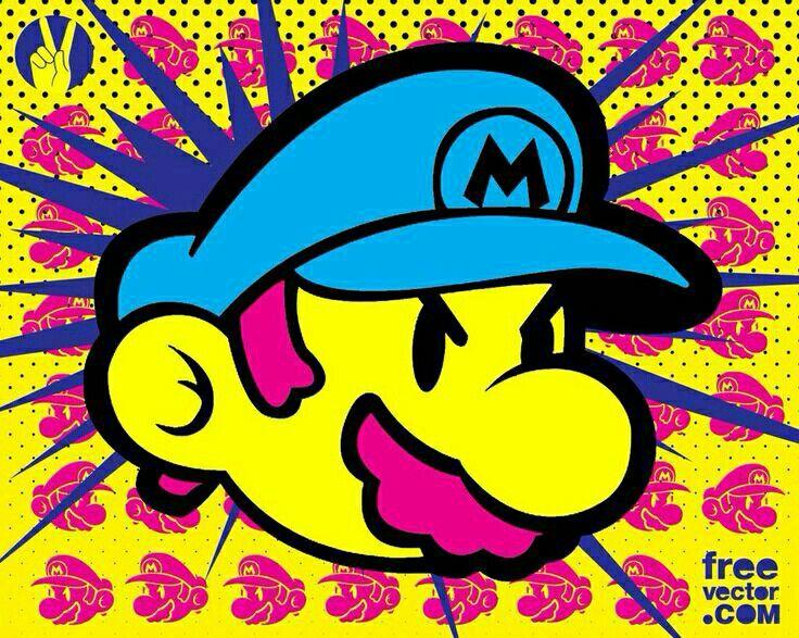 pop art Vector art design, Pop art images, Super mario
