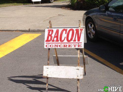 baking concrete?