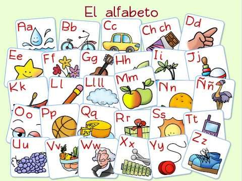 This soothing version of the Spanish alphabet is a great