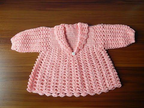 Como tejer saquito su ter chaqueta chambrita para bebe en crochet youtube bebisler - Tejer chaqueta bebe 6 meses ...