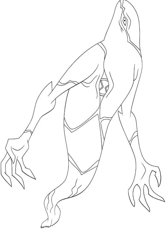 Ghostfreak Aliens Ben 10 Coloring Pages