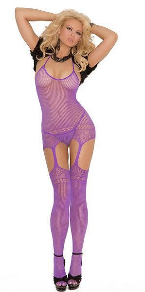 ce87267fe962f Plus Size Halter style suspender bodystocking lingerie with cut out design