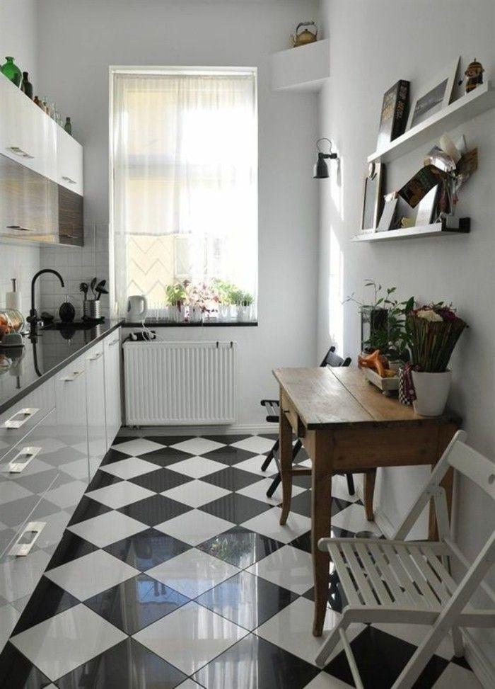 Le Carrelage Damier Noir Et Blanc En 78 Photos Avec Images