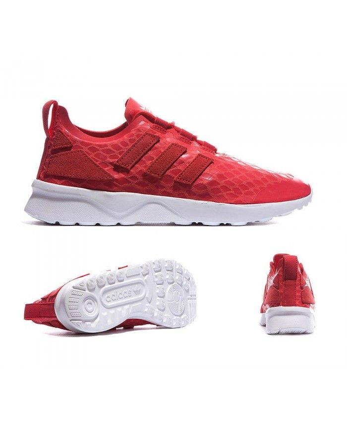 check out 9da5a 4d16a Womens Adidas Originals ZX Flux ADV Verve Lush Red Trainer
