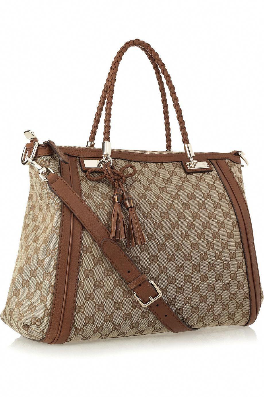 Gucci Bella Monogram Canvas Tote Guccihandbags Gucci Crossbody Bag Monogrammed Canvas Tote Gucci Handbags
