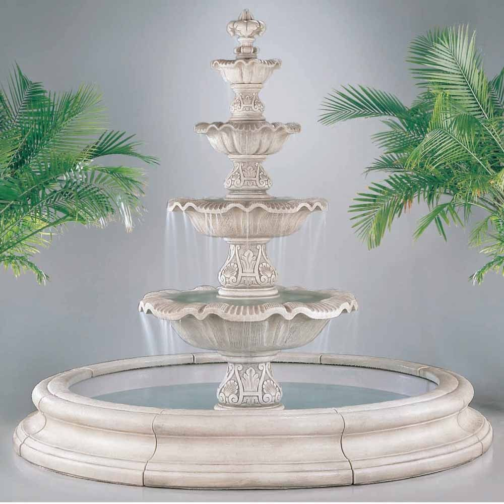 Estate Longvue Outdoor Water Fountain With Pool