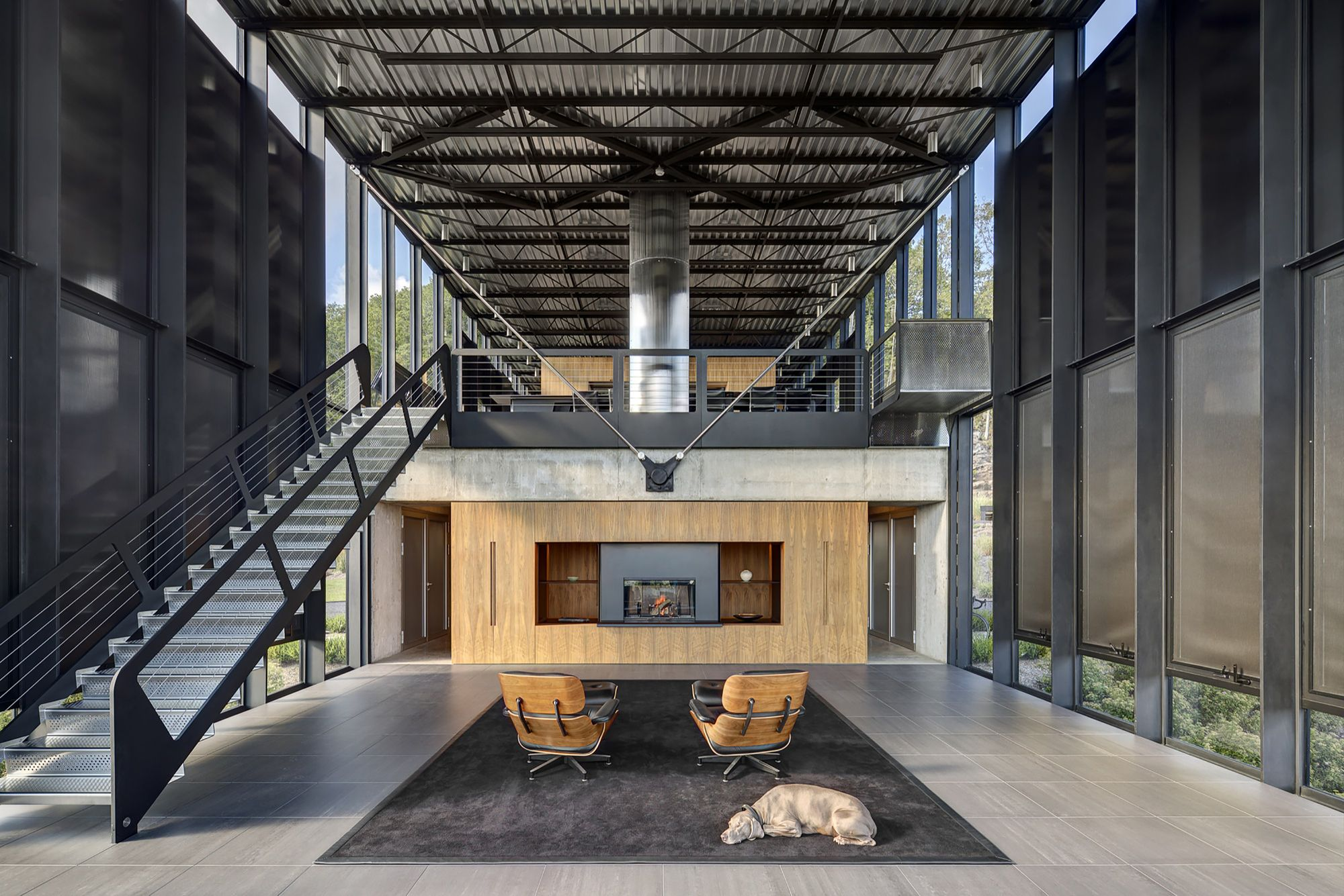 When designing a large home (6000 sq.ft. in fact) in a natural habitat surrounded by a forest of oak, fir spruce and a few birches, and animals such as hawks,...