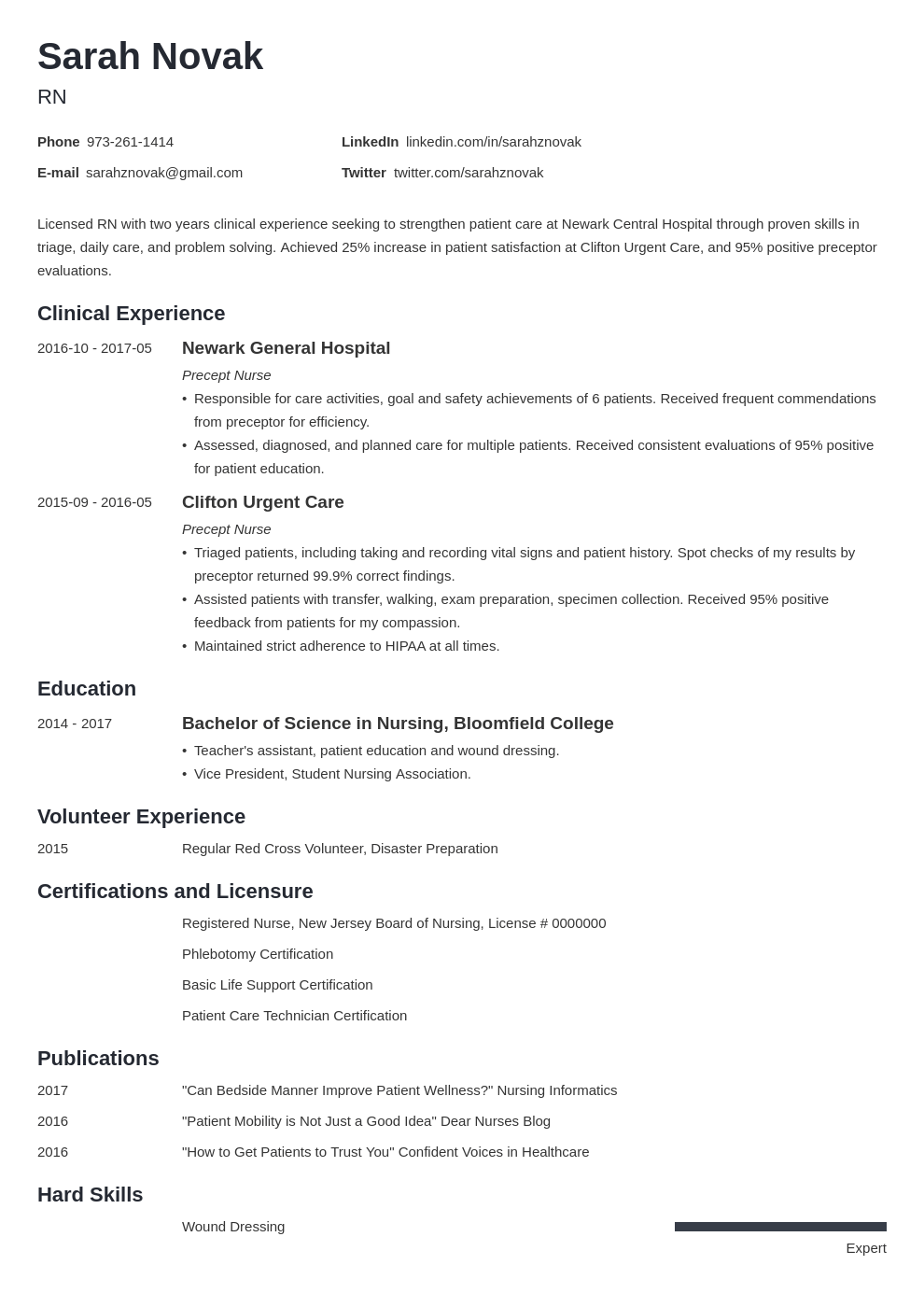 nursing student resume example template minimo in 2020