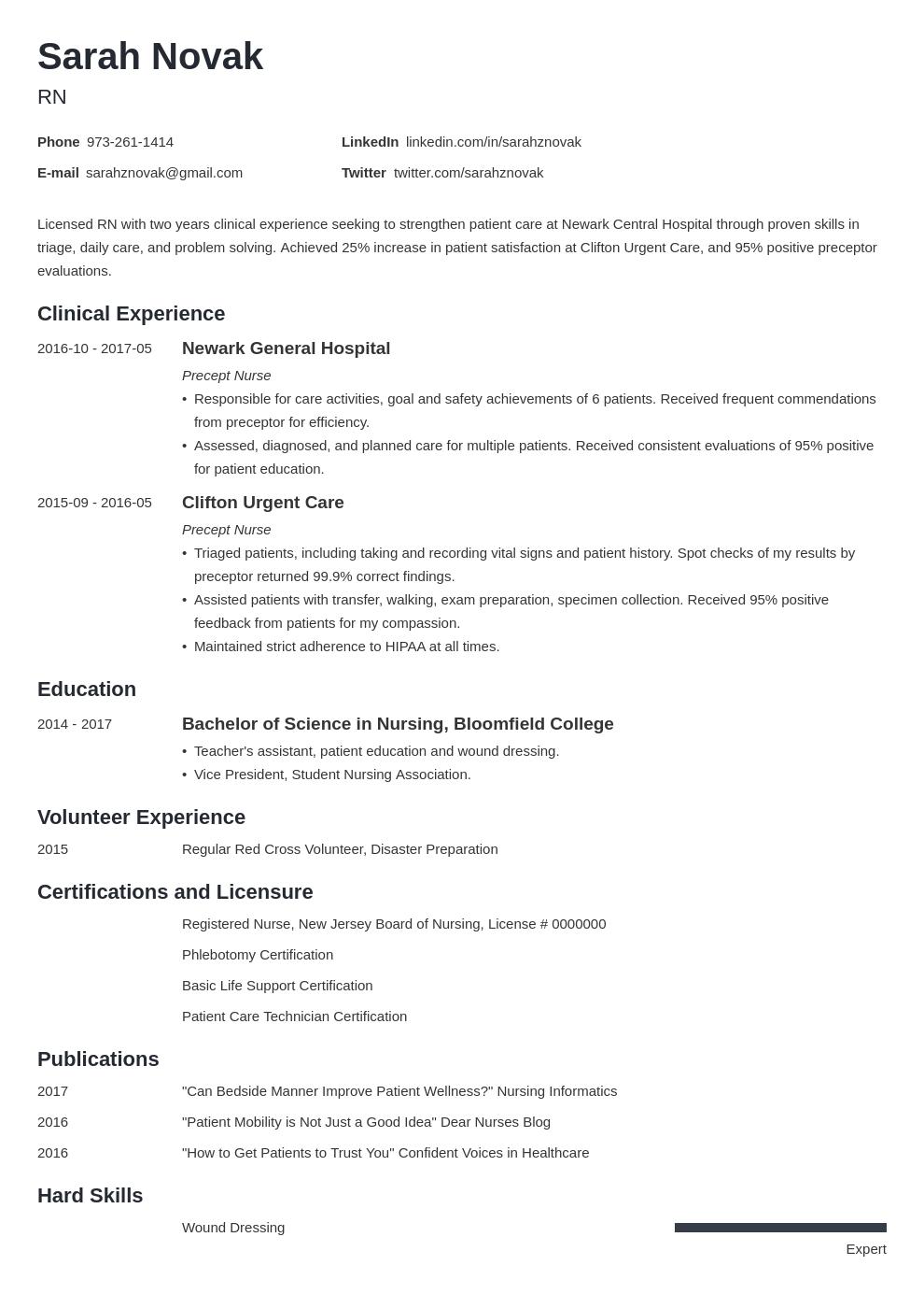 nursing student resume example template minimo in 2020