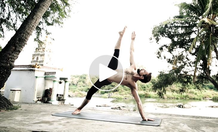 Check out this video set in Mysore, India of Ashtangi Ty Landrum as he flawlessly flows through extremely advanced poses with grace and fluidity.