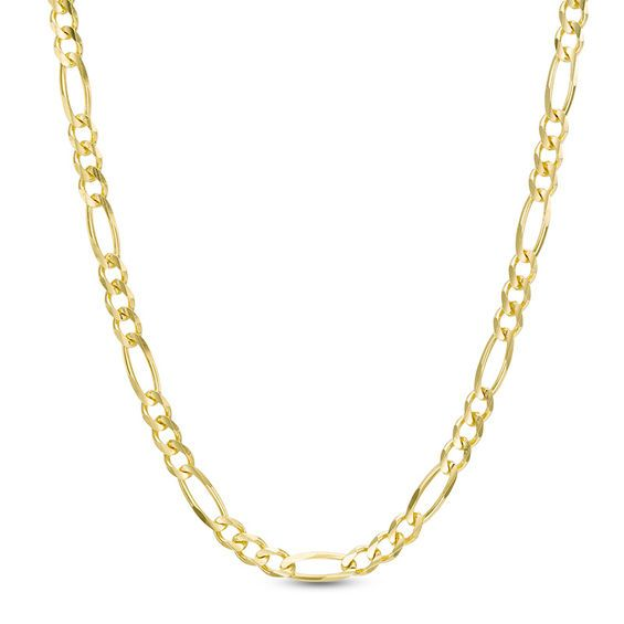 Men S 3 1mm Figaro Chain Necklace In 14k Gold 24