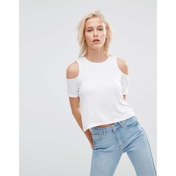 11939ba0ed03ea Minkpink Cold Shoulder T-Shirt (31 AUD) ❤ liked on Polyvore featuring tops