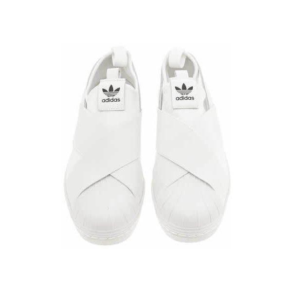 womens white adidas superstar slip on trainers