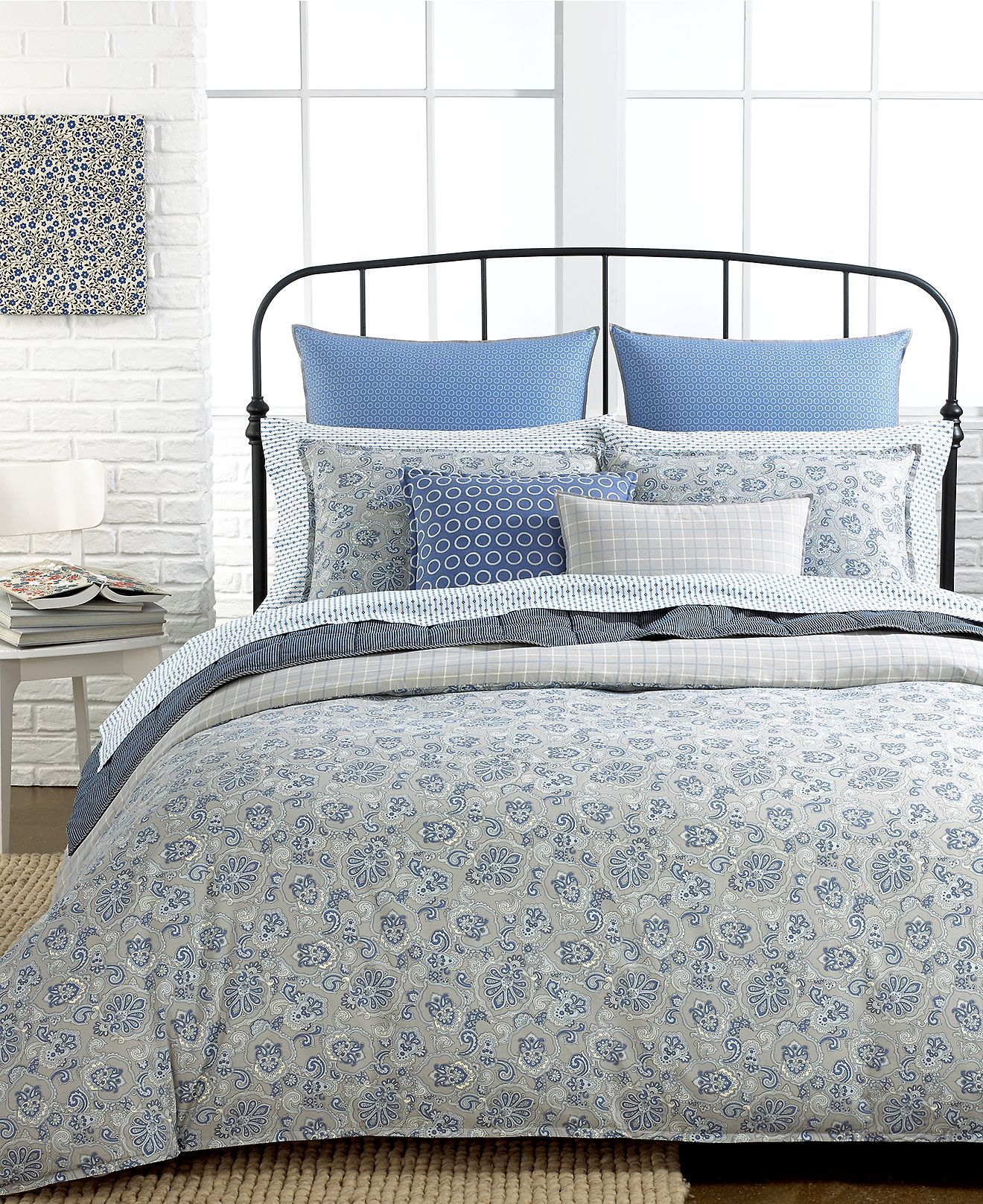Tommy Hilfiger Bedding, Princeton Paisley Collection - Bedding Collections - Bed & Bath - Macy's
