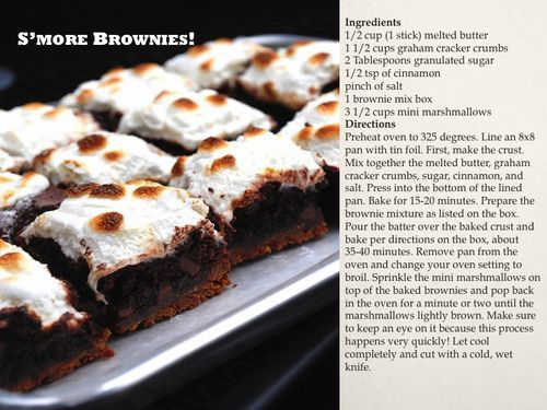 Smoresdessertsbrownies projects pinterest brownies sweet smores brownies recipes dinner ideas healthy recipes food guide wow this looks good forumfinder Choice Image