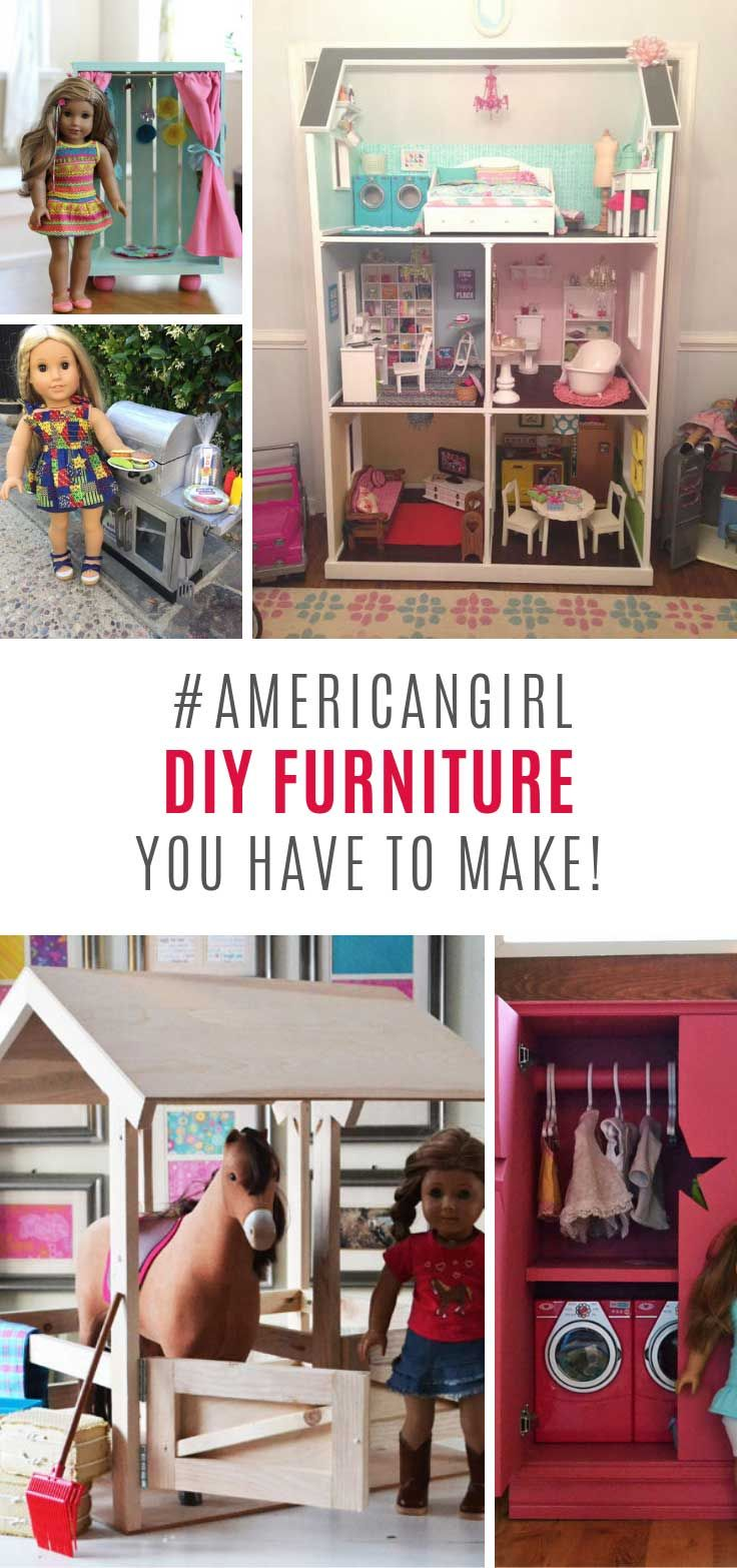 30 DIY American Girl Furniture Projects You Need to See #americangirldollcrafts