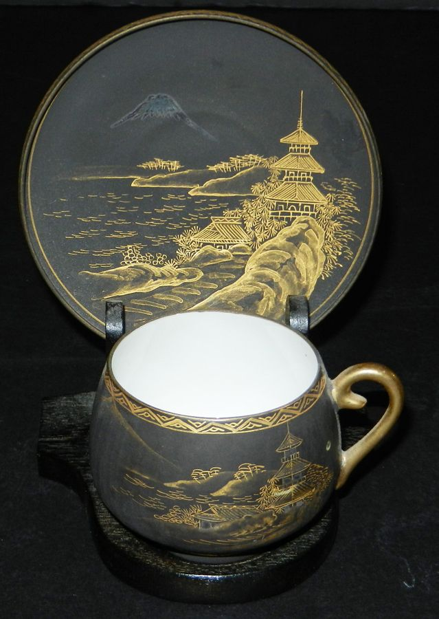 Japanese Tea Cup with Saucer, this would make such a nice favor but monies