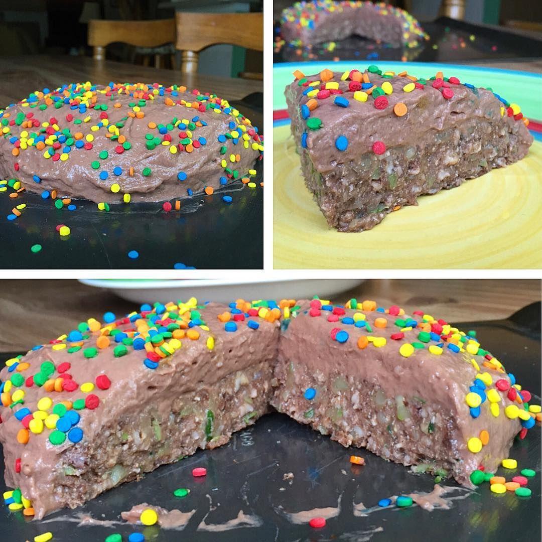 #MacroFriendly Double Chocolate Cosmic Brownie Zoat Cake