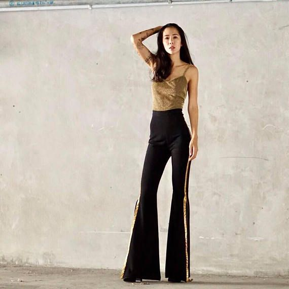 52f312750dc Women s Gold Black Jumpsuit
