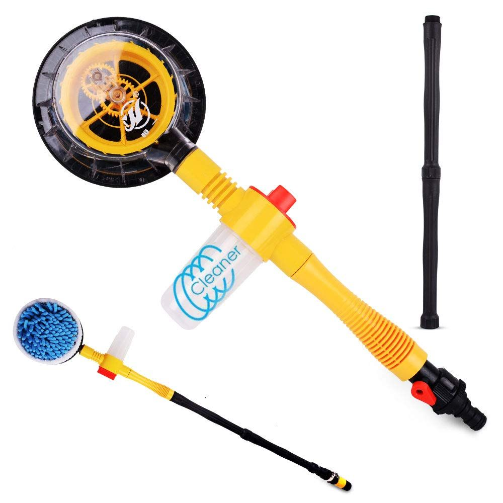 Funlove Car Wash Brush Kit with Long Handle Automatic Non