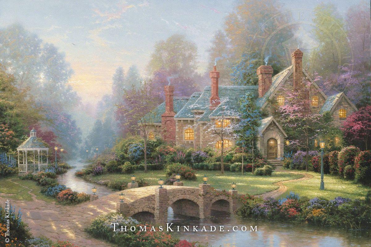 Puzzles Painter of Light Geduldspiel Puzzle 2000 Teile Gardens Beyond Spring Gate Thomas Kinkade