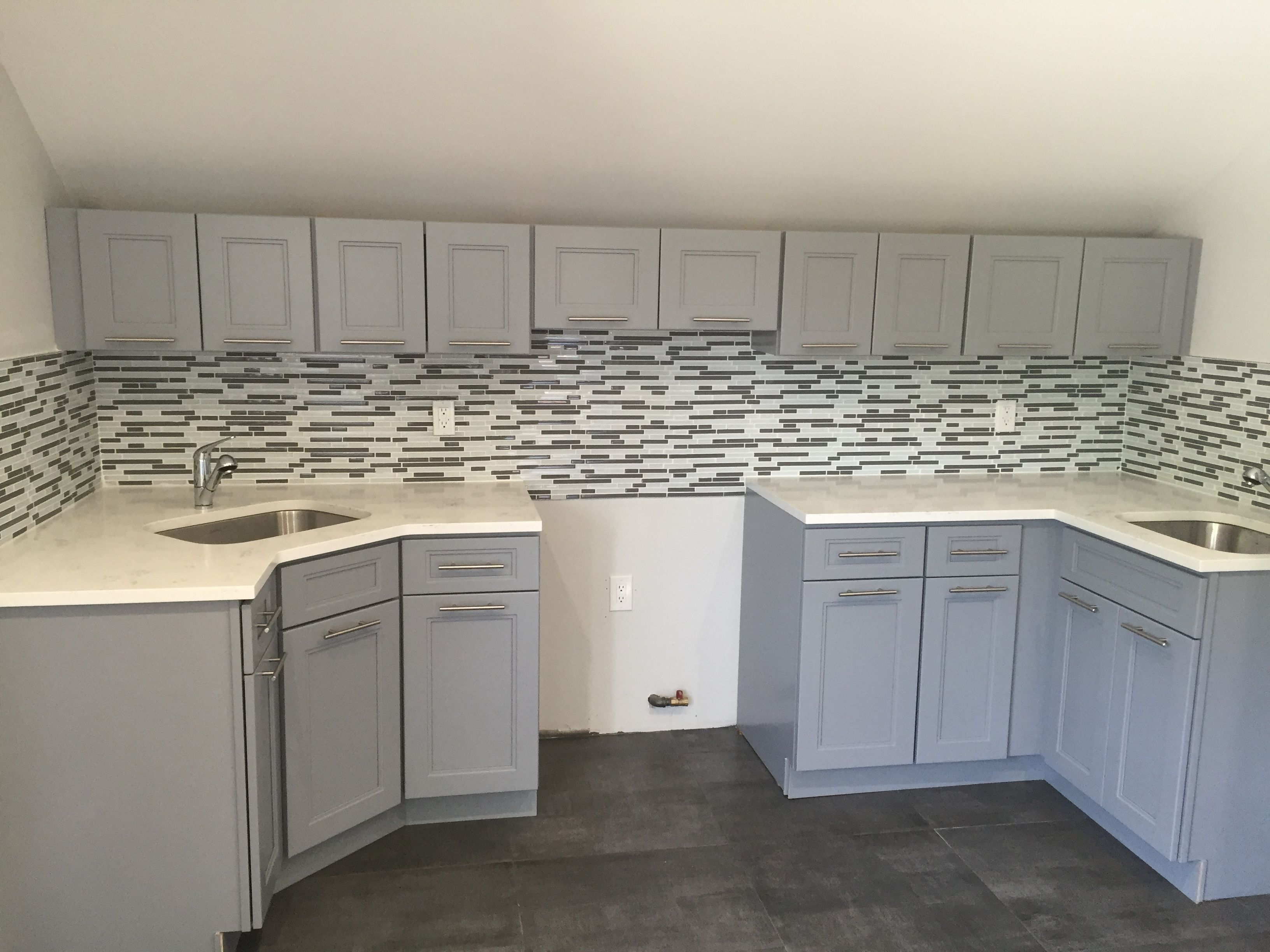 Light Grey Cabinets Are A Good Choice For Attic Kitchen To Keep It Light And Airy Kitc Kitchen Design Small Kitchen Cabinet Design Kitchen Cabinet Styles