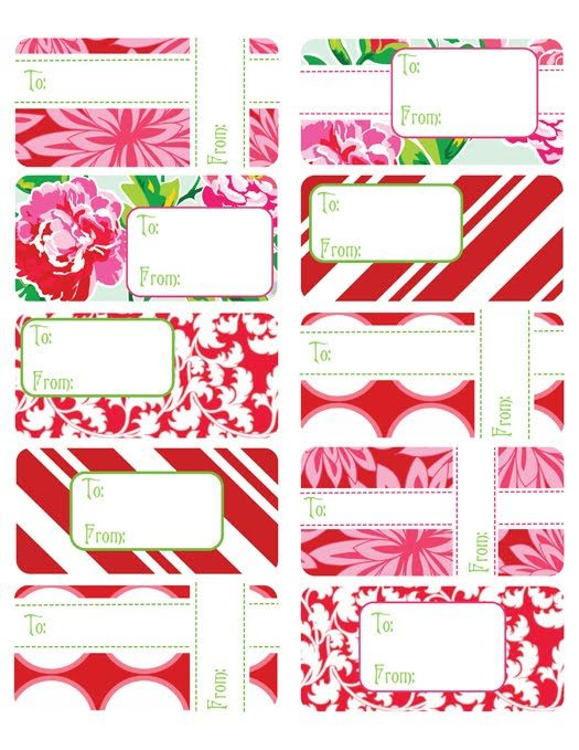 Printable Gift Tags (use Avery labels) Holidays Pinterest Free