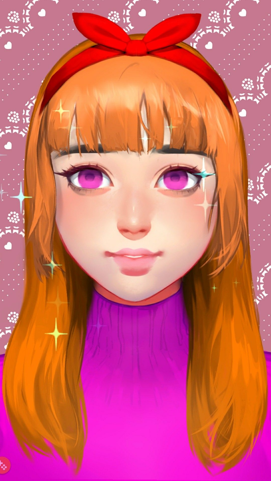 Creating Blossom using Live portrait maker Powerpuff