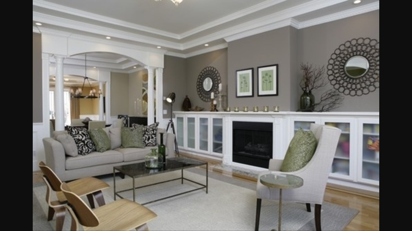 Best Dorian Gray Paint Color With White Trim Living Room 640 x 480