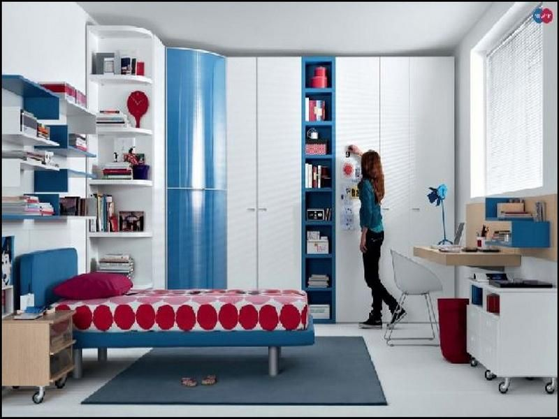 red blue beech white furniture for good room ideas for teenage girls - Blue Bedroom Ideas For Teenage Girls