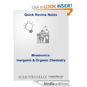 Mcat inorganic and organic chemistry mnemonics quick review notes download thousands of study aids and notes at httpwwwexamville ebooks download free kindle amazon college schools teaching teachers nursing fandeluxe Images